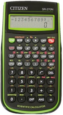 Калькулятор научный Citizen SR-270NGR 10+2-разрядный зеленый