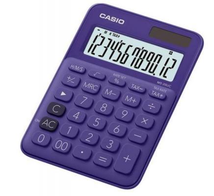 Калькулятор настольный CASIO MS-20UC-PL-S-EC 12-разрядный фиолетовый калькулятор casio ms 20uc yg s ec 12 разрядный желтый