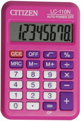 Калькулятор карманный Citizen LC-110N 8-разрядный розовый калькулятор citizen lc 110n 8 разрядный черный