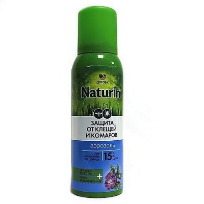 NATURIN Аэрозоль от комаров и клещей на одежду 100мл аэрозоль рефтамид максимум от комаров клещей мошки 100мл