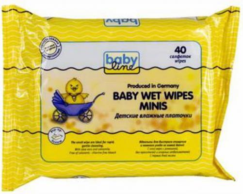 Влажные платочки Babyline гипоаллергенные 40 шт babyline влажные салфетки комфорт 80 шт babyline