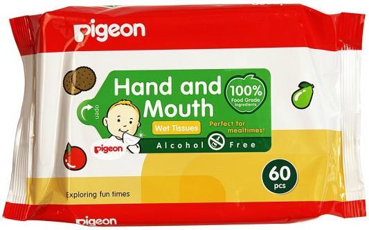 Салфетки влажные Pigeon гипоаллергенные не содержит спирта 60 шт