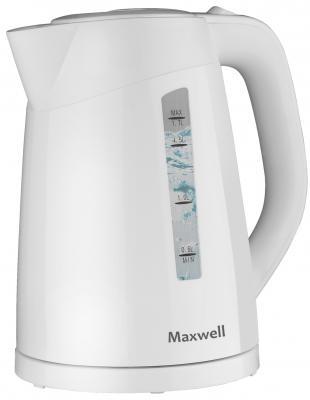 Чайник Maxwell MW-1097(W) 2200 Вт белый 1.7 л пластик чайник maxwell mw 1028 g 2200 вт зелёный белый 1 7 л пластик