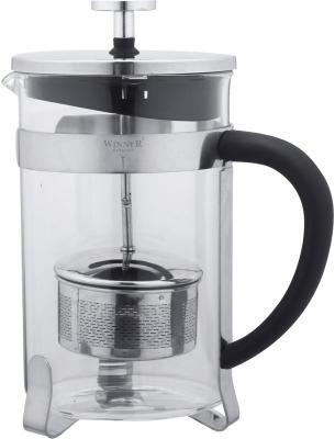 Чайник заварочный Winner WR-5208 прозрачный металлик 0.8 л металл/стекло чайник 0 35 л winner чайник 0 35 л
