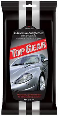 Салфетки влажные Top Gear для стекол,фар,зеркал 30 шт автокосметика top gear