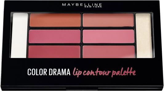 Палетка для губ Maybelline New York Color Contour Blushed B2868600 тени maybelline палетка теней 01 blushed nudes maybelline