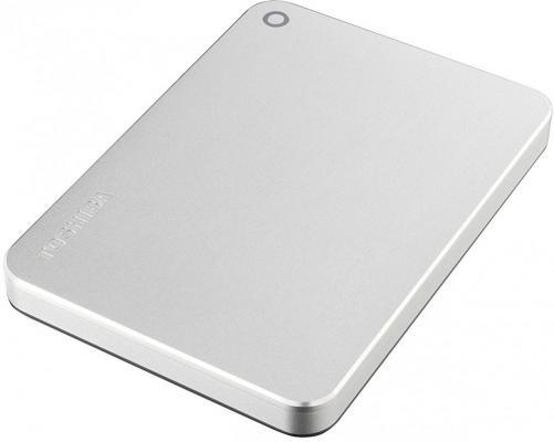 """купить Внешний жесткий диск 2.5"""" USB 3.0 1Tb Toshiba Canvio Premium серебристый HDTW210ES3AA по цене 4420 рублей"""