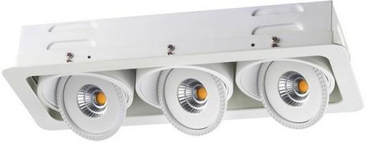 Встраиваемый светодиодный светильник Novotech Gesso 357579 утюг браун 6595