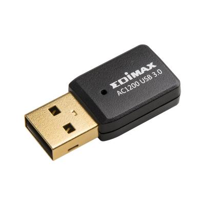 Беспроводной USB адаптер Edimax EW-7822UTC 802.11ac 867Mbps 2.4/5ГГц 20dBm wi fi точка доступа edimax ew 7209apg ew 7209apg