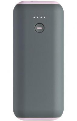Внешний аккумулятор Power Bank 5000 мАч Smart Buy Utashi A серый розовый SBPB-735