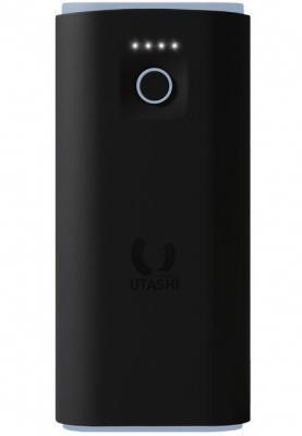 Внешний аккумулятор Power Bank 5000 мАч Smart Buy Utashi X 5000 черный голубой