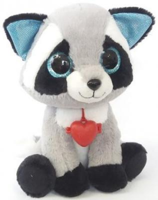 Мягкая игрушка енот Фэнси Глазастик Енот искусственный мех черный серый 23 см GEO0\\S мягкая игрушка собака фэнси глазастик собачка искусственный мех серый белый sbb0 s