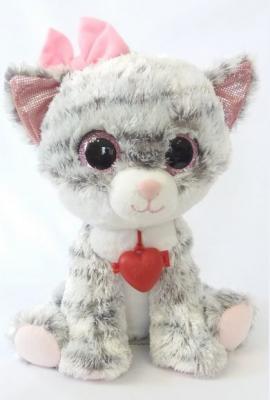 Мягкая игрушка Глазастик Кошечка мягкая игрушка собака фэнси глазастик собачка искусственный мех серый белый sbb0 s