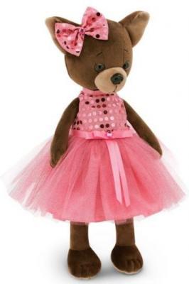Мягкая игрушка собака ORANGE Чихуа Kiki Малиновый блеск текстиль искусственный мех розовый коричневый 25 см LD010 мягкая игрушка чихуа kiki зимняя сказка 25