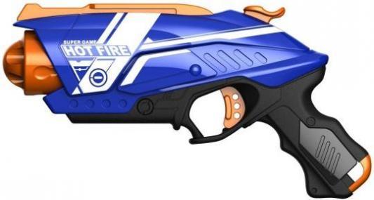 Купить Бластер с мягкими пулями, 20 м/пуль, Наша Игрушка, синий, пластик, Интерактивные мягкие игрушки