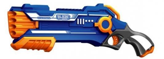 Бластер с мягкими пулями, 20 м/пуль, Наша Игрушка, синий, пластик, Интерактивные мягкие игрушки  - купить со скидкой