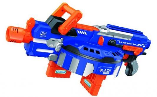 Купить Бластер эл. с мягкими пулями, 60 м/пуль, Наша Игрушка, синий, пластик, Интерактивные мягкие игрушки