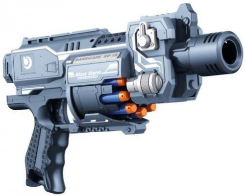 Бластер Наша Игрушка Бластер с мягкими пулями пластик серый ZC7077 бластер boomco smart shot