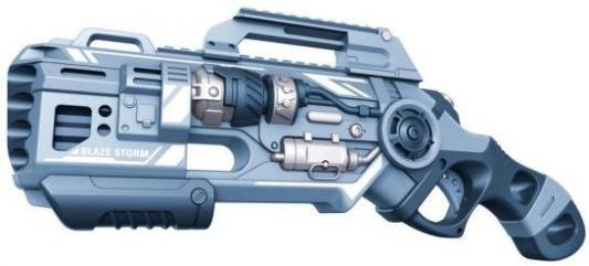 Купить Бластер с мягкими пулями, 20 м/пуль, Наша Игрушка, серый, пластик, Интерактивные мягкие игрушки