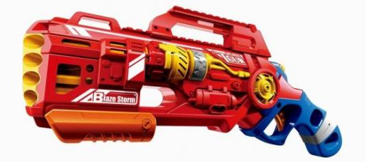 Бластер Наша Игрушка Бластер с мягкими пулями пластик красный 7067 бластер boomco smart shot