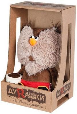 Купить Фигурка сова ДуRашки Сова & Coffee искусственный мех текстиль коричневый 25 см MT-MRT02201706-25, искусственный мех, текстиль, Животные