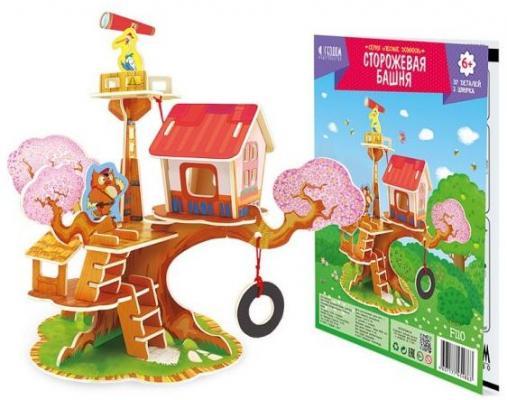 Пазл деревянный 3D Сторожевая башня 18,5*23 пазлы magic pazle объемный 3d пазл эйфелева башня 78x38x35 см