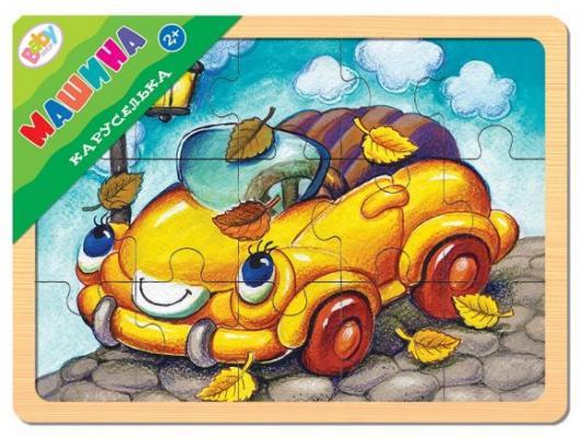 Пазл 15 элементов Степ Каруселька Машина 89035