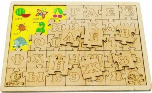 Пазл Мастер вуд Изучаем алфавит 35 элементов ДП 1014