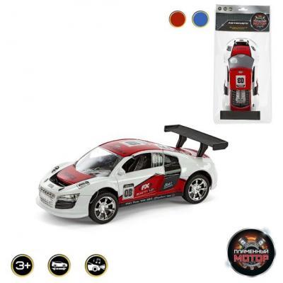 Машина ин. Пламенный мотор,18см,свет,звук,ассорт. машина пламенный мотор mitsubishi полиция 870105