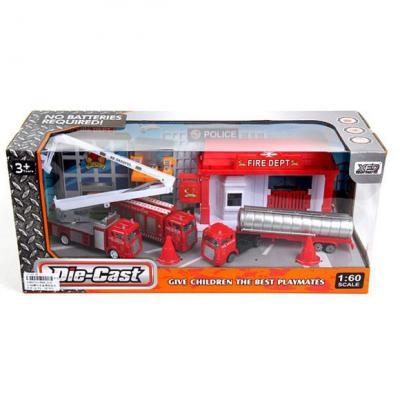 Набор Наша Игрушка Пожарная бригада 1:60 разноцветный 889-214 игрушка mehano 1 f101 набор рельс
