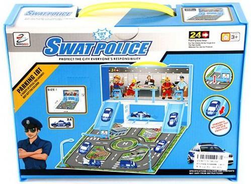 Парковка, Полицейский участок, машина 4 шт, аксессуары, коробка