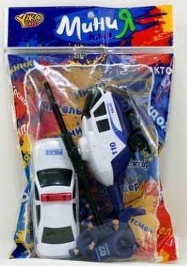 Машина Наша Игрушка Полиция белый 6 шт M6216