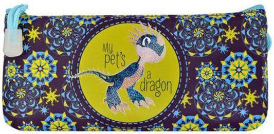 Пенал-косметичка ACTION! DRAGONS 2 без наполнения, ткань,разм. 200х70 мм.,1 диз. пенал на двух молниях action dragons конгрев метал разм 190х105 мм с черным драконом