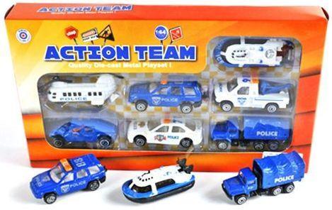 Набор Наша Игрушка Полицейская техника цвет в ассортименте 7 шт 7 см 8965D