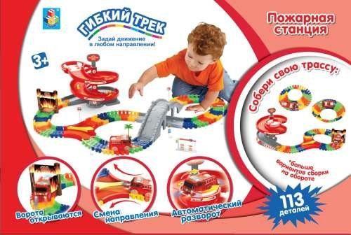 Набор 1 toy Пожарная станция разноцветный Т59308 игровой набор dave toy пожарная станция с 1 машинкой
