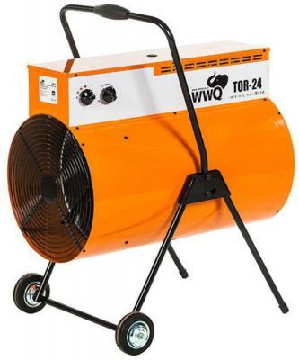 Тепловая пушка WWQ TOR-24 24000 Вт термостат колеса для перемещения ручка для переноски чёрный оранжевый тепловая пушка wwq tb 2k1