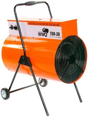 Тепловая пушка WWQ TOR-30 30000 Вт ручка для переноски колеса для перемещения термостат чёрный оранжевый тепловая пушка wwq tb 2k1