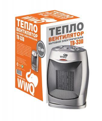 Тепловентилятор WWQ TB-33D 1500 Вт термостат поворот корпуса серебристый