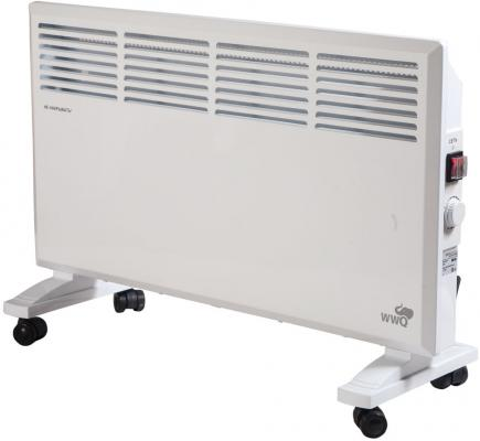 Конвектор WWQ KM-20 2000 Вт термостат колеса для перемещения белый конвектор electrolux ech as 2000 er 2000 вт таймер термостат колеса для перемещения белый