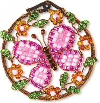 Набор для творчества Клевер Плетение кулона из бисера Рассвет от 10 лет АА 07-211