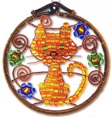 Набор для творчества Клевер Фигурка из бисера Кошечка от 10 лет АА 07-213