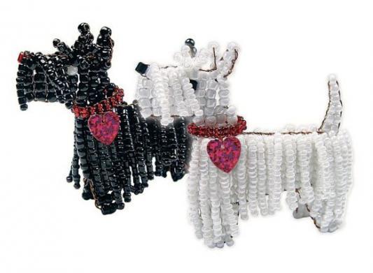 Набор для творчества Клевер Фигурка из бисера Терьер Клякса от 8 лет АА 05-521 набор для творчества клевер цветы из бисера нежный ландыш аа 05 608