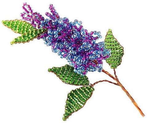 Набор для творчества Клевер Цветы из бисера Майская сирень от 8 лет АА 05-603