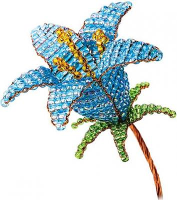 Набор для творчества Клевер Цветы из бисера Голубой колокольчик от 8 лет АА 05-607 набор для творчества клевер цветы из бисера нежный ландыш аа 05 608