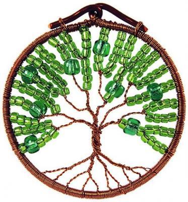 Набор для творчества Клевер Плетение кулона из бисера Талисман друидов. Лето от 10 лет АА 07-203