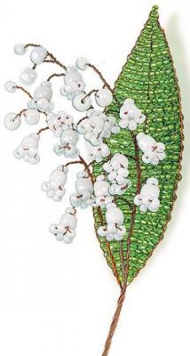 Набор для творчества Клевер Цветы из бисера Нежный ландыш от 8 лет АА 05-608