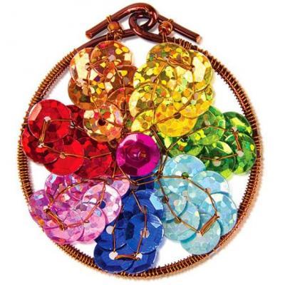 Набор для творчества Клевер Плетение кулона из бисера Волшебный цветок от 10 лет АА 07-217