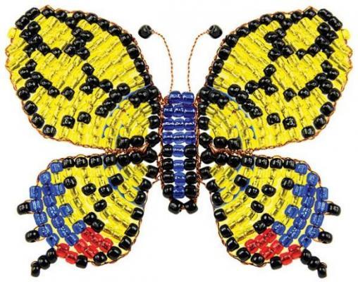 Набор для творчества Клевер Фигурка из бисера Бабочка-махаон от 8 лет АА 05-555