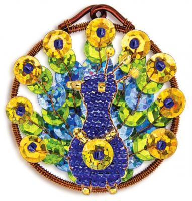 Набор для творчества Клевер Плетение кулона из бисера Дивный павлин от 10 лет АА 07-215