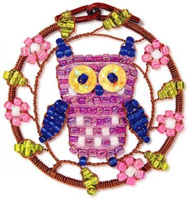 Набор для творчества Клевер Плетение кулона из бисера Совушка от 10 лет АА 07-214